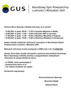 Informacja o stanowiskach spisowych utworzonych na terenie gminy Biała.