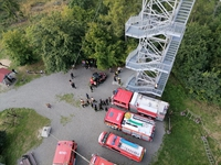 Galeria wspólne ćwiczenia z biegiem na wieżę 04.09.2021