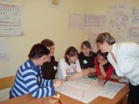 praca w zespołach podczas warsztatów w Chrzelicach